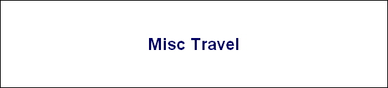 Misc Travel